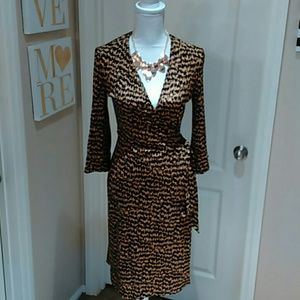 Diane Von Furstenberg Silk Wrap Dress 8